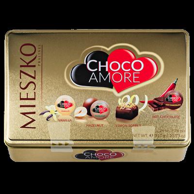 конфеты MIESZKO CHOCO AMORE Ж/Б 310 г 1 уп.х 5 шт.