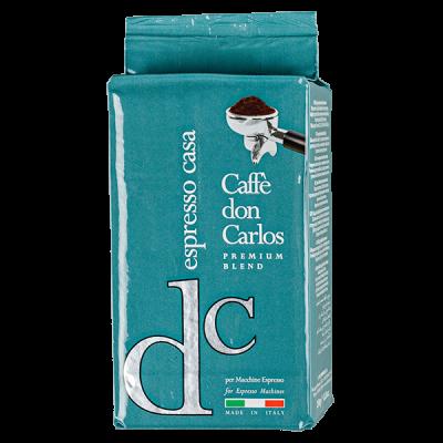 кофе CAFFE DON CARLOS ESPRESSO CASA 250г молотый 1 уп. х 20 шт.