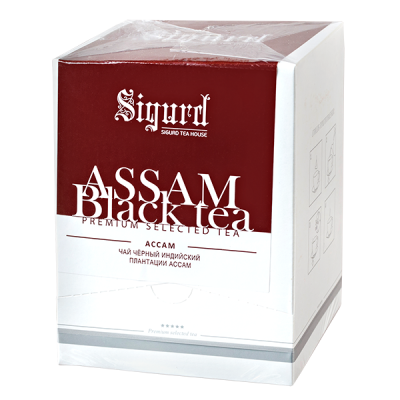 чай SIGURD 'ASSAM BLACK' 20 пирамидок 1 уп.х 8 шт.