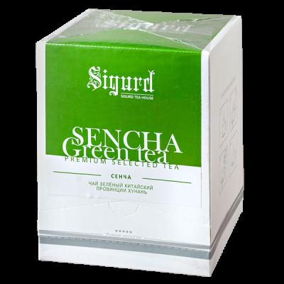 чай SIGURD 'SENCHA GREEN' 20 пирамидок 1 уп.х 8 шт.