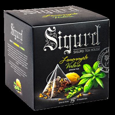 чай SIGURD 'LEMONMYRTE VERBENA' 15 пирамидок/саше-конверт 1 уп.х 8 шт.