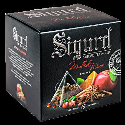 чай SIGURD 'MULLED WINE' 15 пирамидок/саше-конверт 1 уп.х 8 шт.