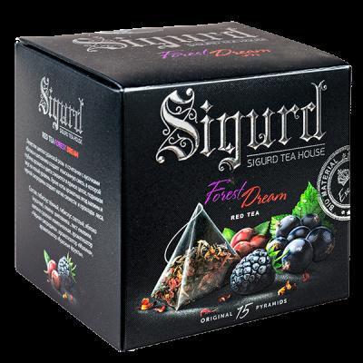 чай SIGURD 'FOREST DREAM' 15 пирамидок/саше-конверт 1 уп.х 8 шт.