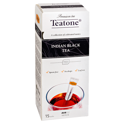 чай TEATONE 'INDIAN BLACK' 15 стиков 1 уп.х 12 шт.