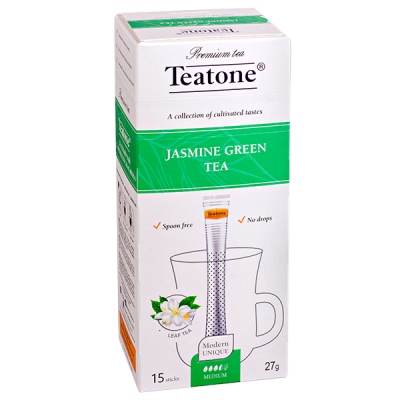 чай TEATONE 'JASMINE GREEN' 15 стиков 1 уп.х 12 шт.