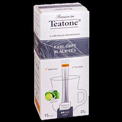 чай TEATONE 'EARL GREY BLACK' 15 стиков 1 уп.х 12 шт.