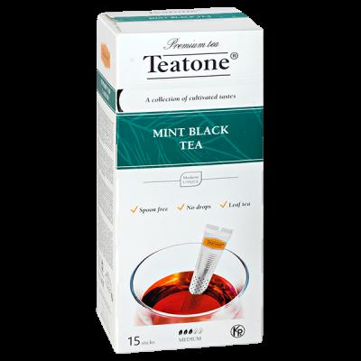 чай TEATONE 'MINT BLACK' 15 стиков 1 уп.х 12 шт.