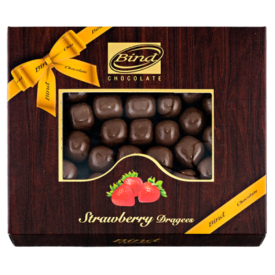 конфеты BIND CHOCOLATE Strawberry Dragees 100 г 1 уп.х 12 шт.