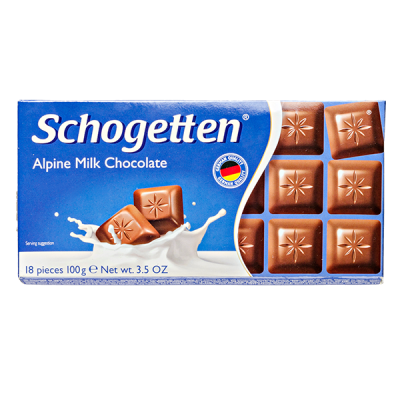шоколад SCHOGETTEN Alpine Milk Choсolate 100 г 1уп.х 15шт.