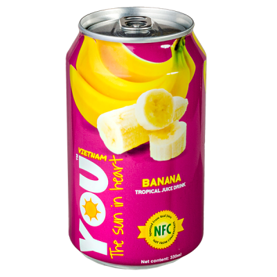 напиток YOU VIETNAM Banana 330 мл  Ж/Б 1 уп.х 24 шт.