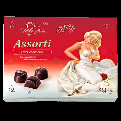 конфеты Шоколеди Dark с фруктовыми начинками 195 г 1 уп.х 10 шт.