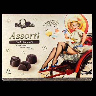 конфеты Шоколеди Dark с начинками трюфель-миндаль-мокко 195 г 1 уп.х 10 шт.