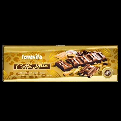 шоколад TERRAVITA со вкусом кофе-латте 225 г 1уп.х 9шт