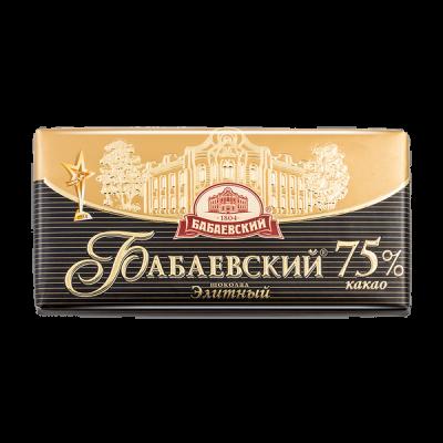 шоколад Бабаевский Элитный 75% 100 г 1 уп.х 17 шт.