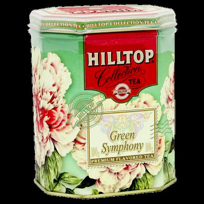 чай HILLTOP подарочный восьмигранник 'Зеленая симфония' ж/б 100 г 1 уп.х 12 шт.