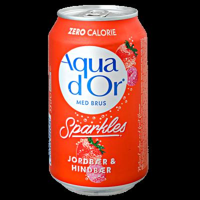 напиток AQUA DOR Jordbaer & Hindbaer 330 мл Ж/Б 1 уп.х 24 шт.