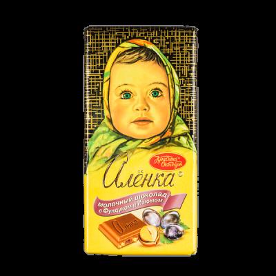 шоколад Аленка Фундук Изюм 100 г 1уп.х 14шт.