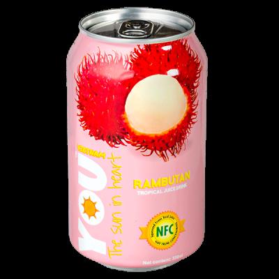напиток YOU VIETNAM Rambutan 330 мл  Ж/Б 1 уп.х 24 шт.