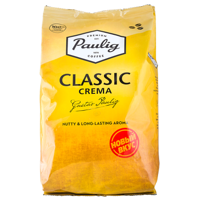 кофе PAULIG CLASSIC CREMA 1 кг зерно 1уп.х 4 шт.