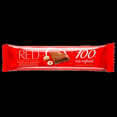 шоколад RED Delight MILK лесной орех и макадамия 26 г 1 уп. х 24 шт.