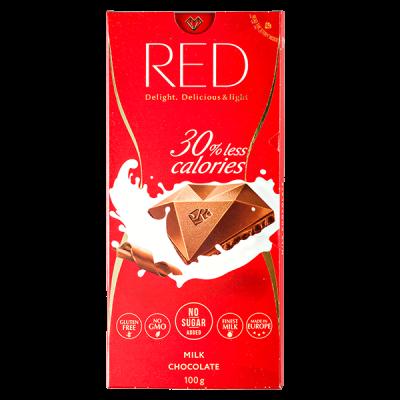 шоколад RED Delight MILK 100 г 1 уп. х 20 шт.