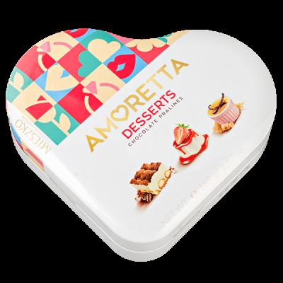 конфеты MIESZKO AMORETTA Dessert Selection Ж/Б 189 г 1 уп.х 6 шт.