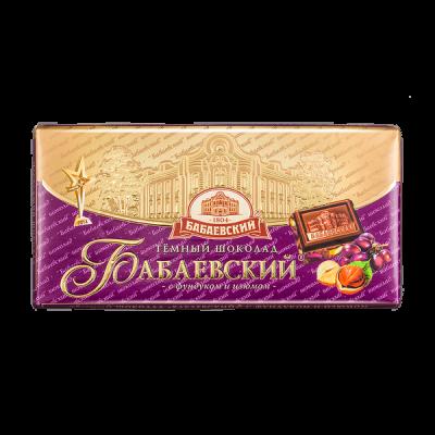 шоколад Бабаевский Фундук и Изюм 100 г 1 уп.х 16 шт.