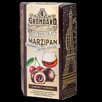 конфеты GRONDARD МАРЦИПАН с вишневой начинкой и коньяком 140 г 1 уп. х 10 шт.