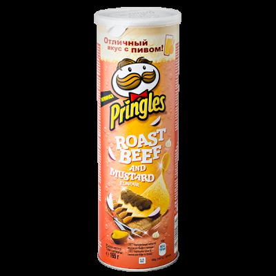 чипсы PRINGLES Roastbeef & Mustard 165 г 1 уп. х 19 шт.