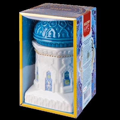 чай HILLTOP чайница 'Восточное созвездие' голубая керамика 100 г 1уп. х 6 шт.