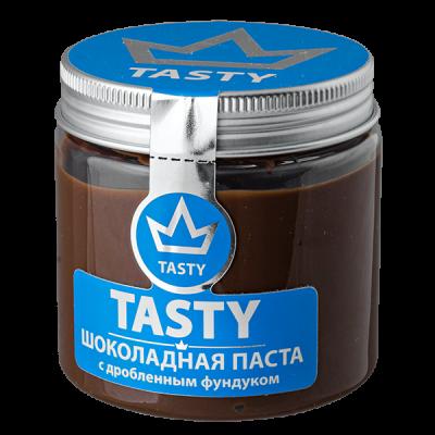 шоколадная паста Tasty с дробленным фундуком 200 г 1 уп.х 12 шт.