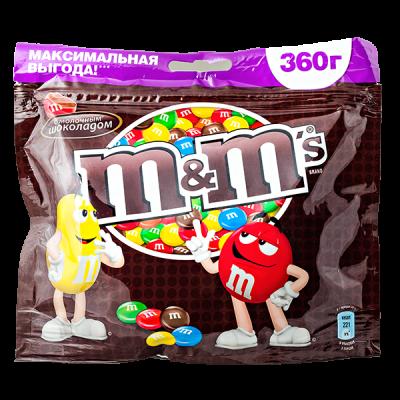 драже М&М's с молочным шоколадом 360 г 1 уп. х 14 шт.