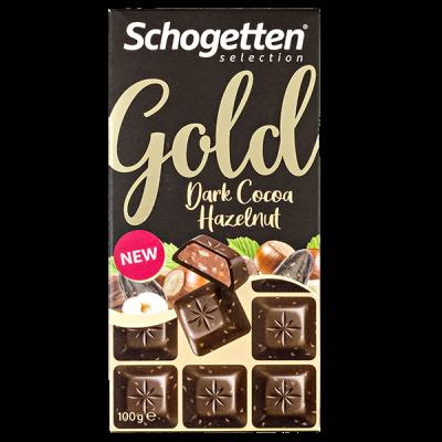 шоколад SCHOGETTEN GOLD Dark Hazelnut 100 г 1уп. х 15шт.