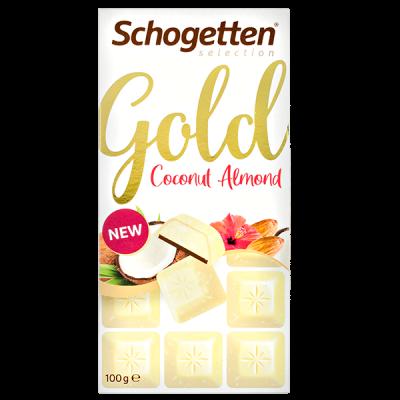 шоколад SCHOGETTEN GOLD White Coconut Almond 100 г 1уп. х 15шт.