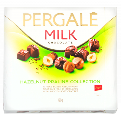 конфеты PERGALE HAZELNUT PRALINE COLLECTION 120 г 1 уп. х 10 шт.