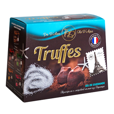 конфеты MATHEZ PoD'Aree Трюфель с морской солью из Геранда 160 г 1 уп.х 12 шт.