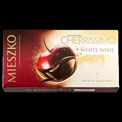 конфеты MIESZKO CHERRISSIMO WHITE WINE 142 г 1 уп.х 13 шт.
