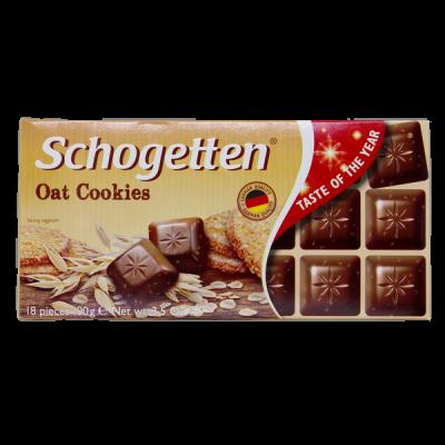 шоколад SCHOGETTEN Oat Cookies 100 г 1уп. х 15шт.