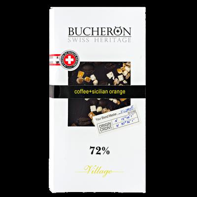 шоколад BUCHERON VILLAGE 72% с Зернами Кофе и Апельсином 100 г 1уп.х 10шт.