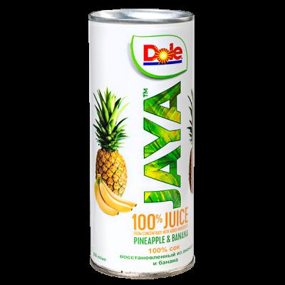 сок Dole JAYA ананас банан 250 мл ж/б 1 уп.х  24 шт.