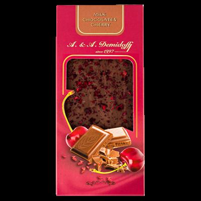 шоколад A&A Demidoff Молочный с вишней 90 г 1 уп.х 10 шт.