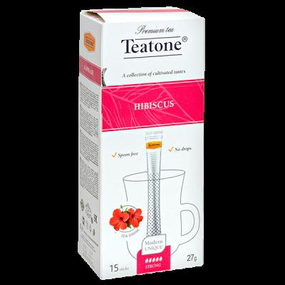 чай TEATONE 'HIBISCUS' 15 стиков 1 уп.х 12 шт.
