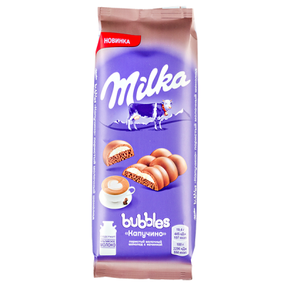 шоколад Милка Баблс Капучино 92 г 1 уп.х 16 шт.