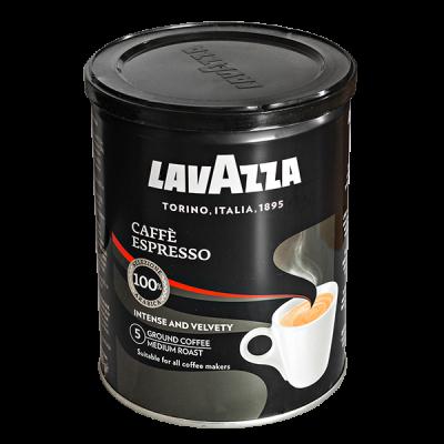 кофе LAVAZZA CAFFE ESPRESSO 250 г ж/б молотый 1 уп.х 12 шт.