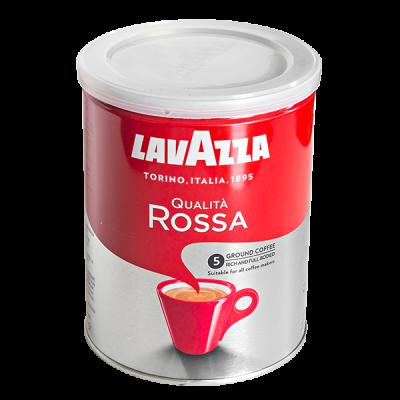 кофе LAVAZZA QUALITA ROSSA 250 г ж/б молотый 1 уп.х 12 шт.