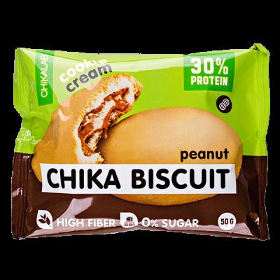 Печенье Chikalab протеиновое CHIKA BISCUIT peanut 50 г 1 уп.х 9 шт.