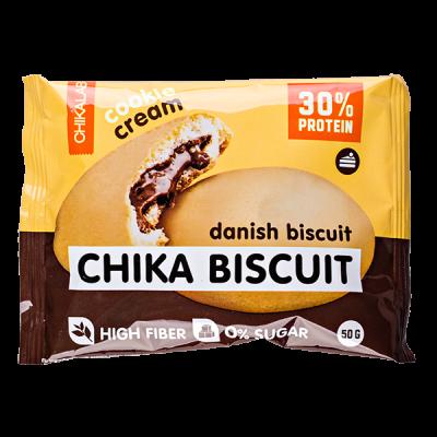 Печенье Chikalab протеиновое CHIKA BISCUIT danish biscuit 50 г 1 уп.х 9 шт.