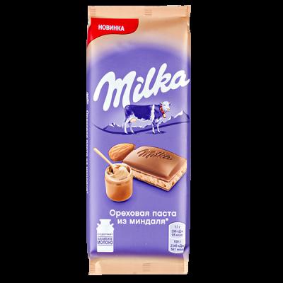 шоколад Милка Ореховая паста из миндаля 85 г 1 уп.х 20 шт.