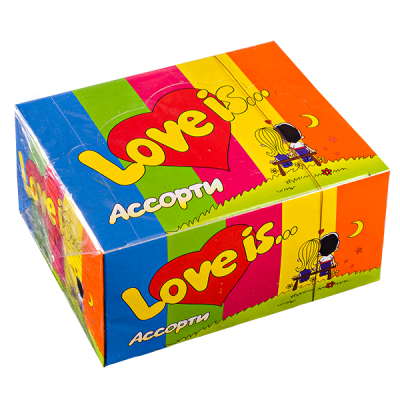 жевательная резинка LOVE IS... Ассорти 1 уп.х 100 шт.