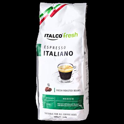 кофе ITALCO ESPRESSO ITALIANO 1 кг зерно 1 уп.х 6 шт.